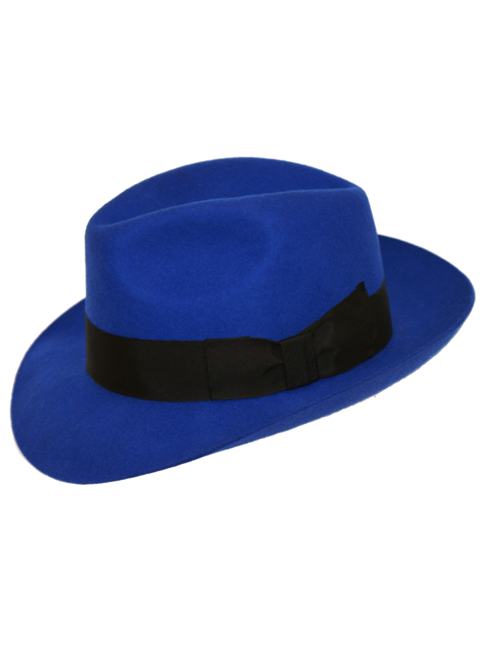 529d29da09963 Classic  snap brim  royal blue Fedora by Denton Hats